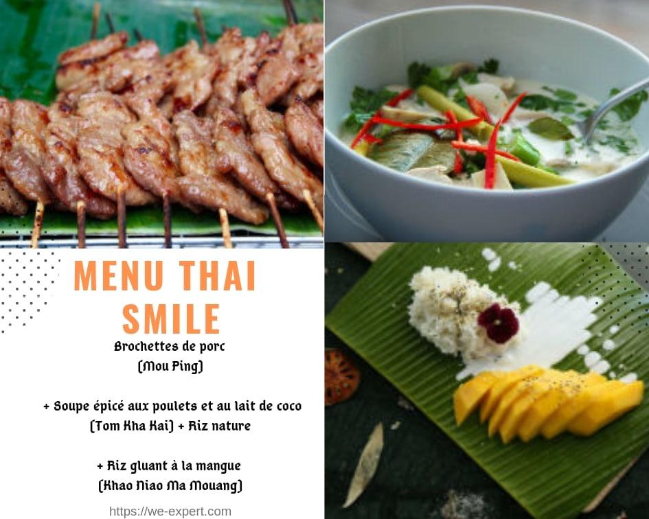 cuisiner thai, plat thai simple
